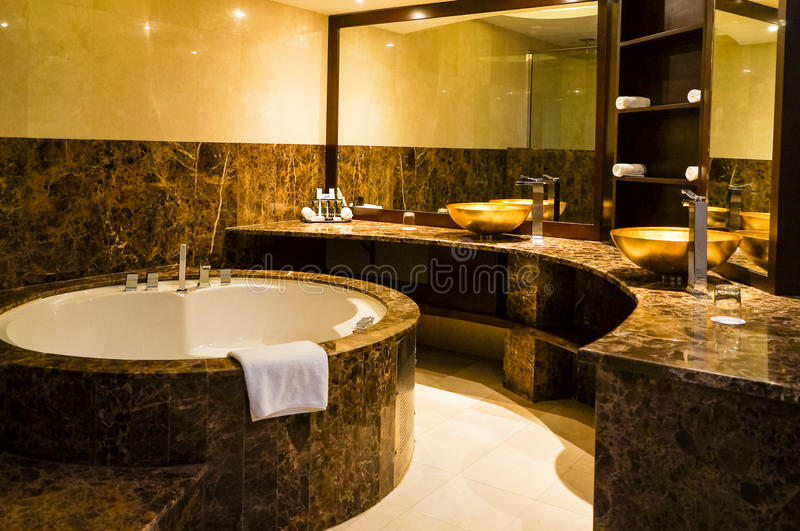Dubai. In the summer of 2016. Modern and bright interior marble decoration in the hotel Ghaya Grand. royalty free stock photo