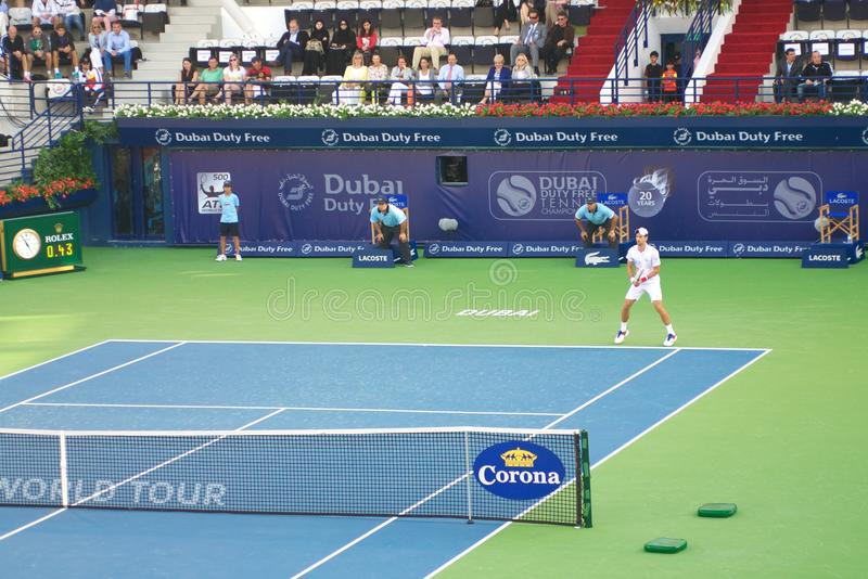 dubai tennis 2012 royaltyfri fotografi