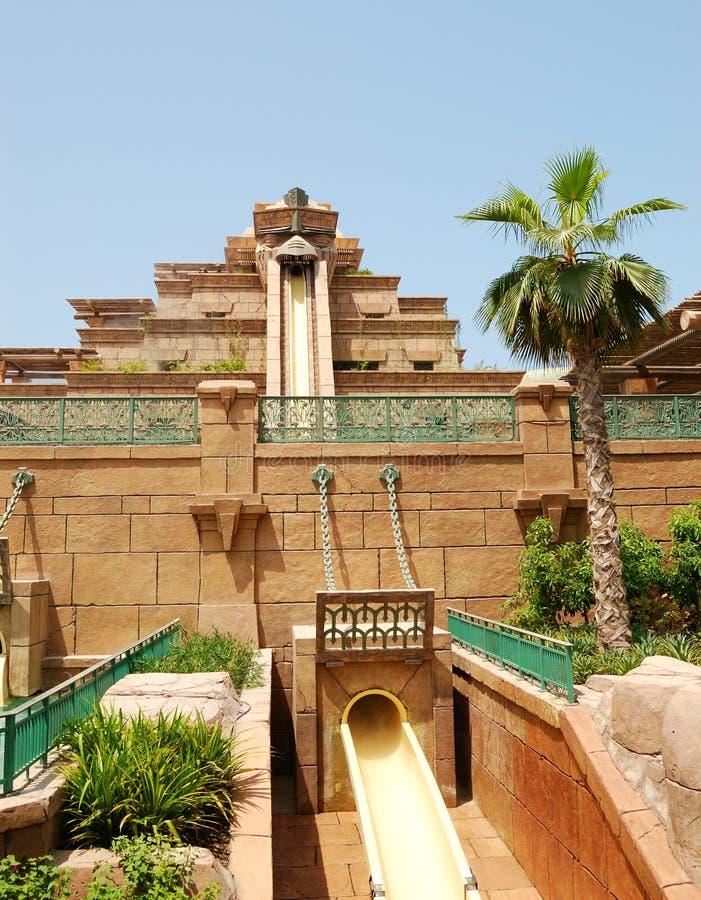 DUBAI, UAE - AGOSTO 28: O waterpark de Aquaventure imagem de stock