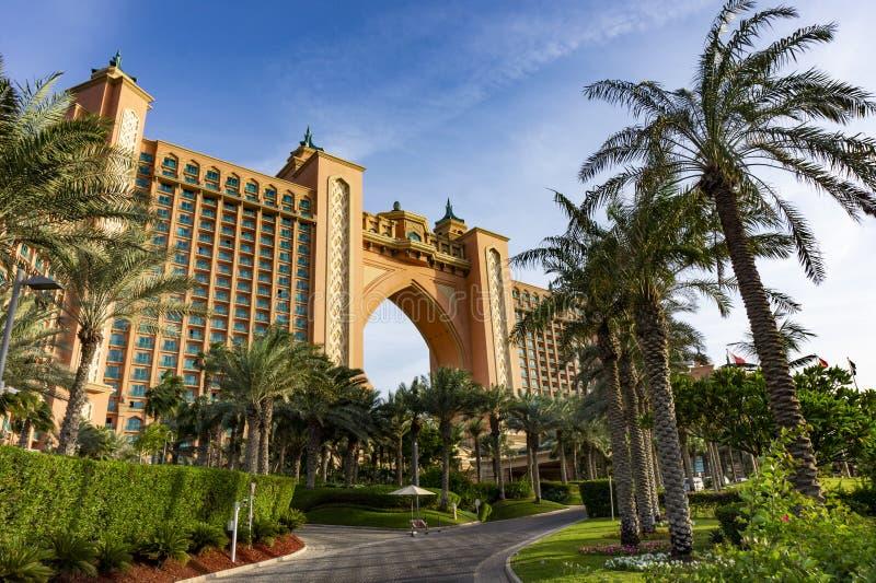 DUBAI, UAE - 11.05.2018 : Atlantis the Palm is a luxury 5 star hotel built on an artificial island stock photos