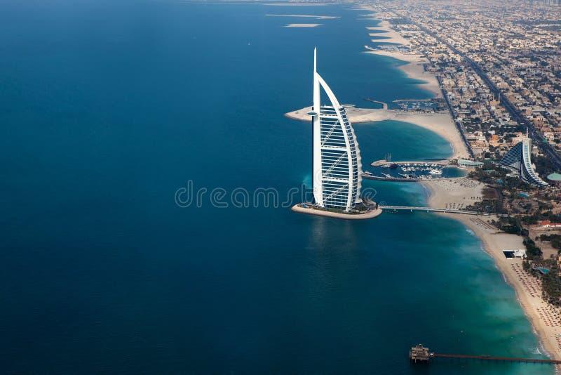 Dubai, UAE. Burj Al Arab von oben stockfoto