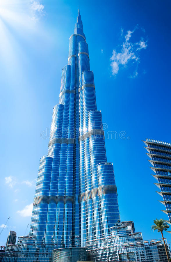 DUBAI UAE. Burj Khalifa royaltyfri bild