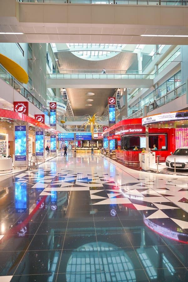Dubai International Airport. DUBAI, UAE - CIRCA JANUARY, 2019: interior shot of Dubai International Airport stock images