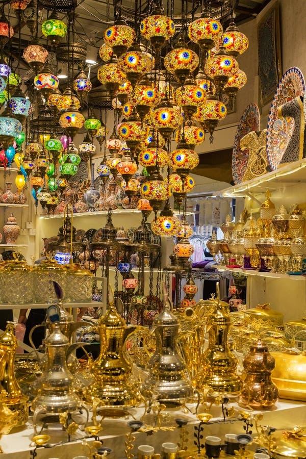 DUBAI, UAE - 11 DE MARÇO DE 2019: Pavilhão de Turquia na aldeia global em Dubai, UAE, como visto o 11 de março de 2019 A aldei imagens de stock royalty free