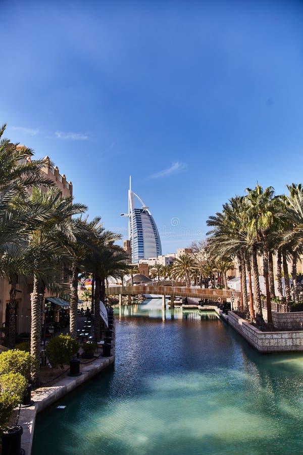 DUBAI, UAE - 21 de marzo de 2019: ?rabe del al de Burj del hotel imagen de archivo
