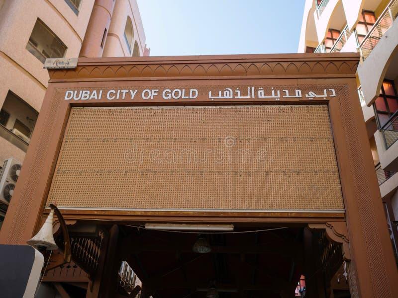 Gold Market In Dubai, Deira Gold Souq Editorial Stock Image - Image