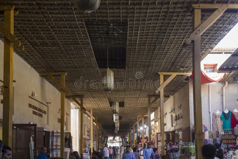 Dubai souq in Deira district stock image