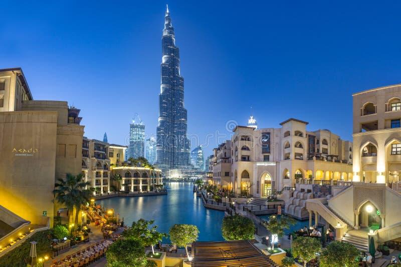Burj Khalifa tower. Dubai/UAE March 9, 2017: Burj Khalifa tower royalty free stock photo