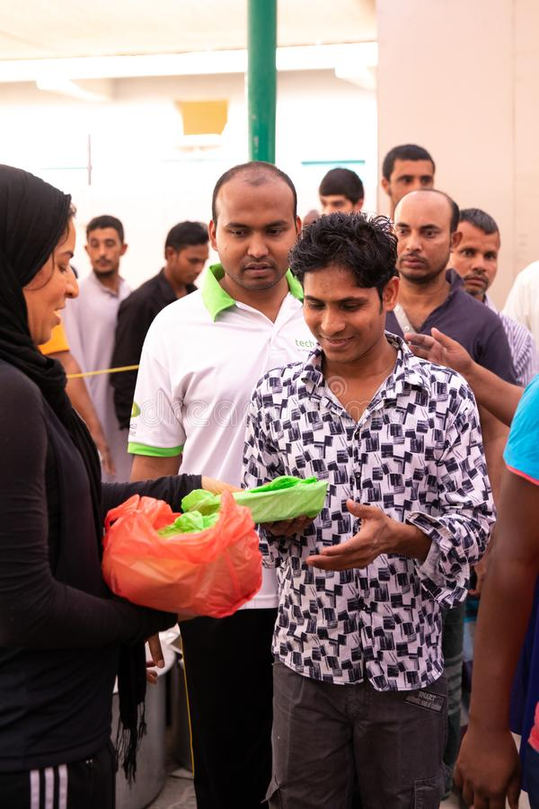 Food Packages` Distribution In Mosque During Ramadan Iftar
