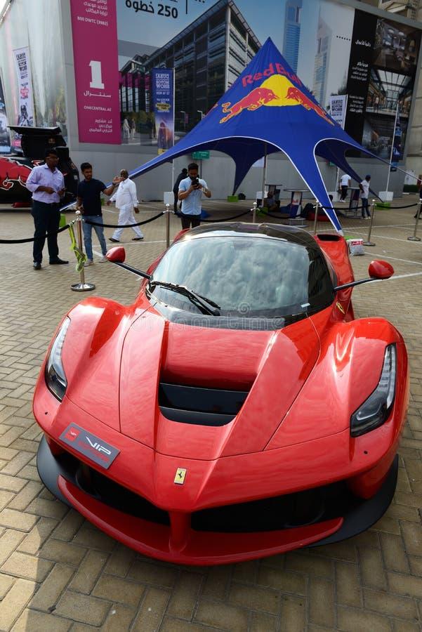 The Ferrari LaFerrari  sportscar is on Dubai Motor Show 2019 royalty free stock photos