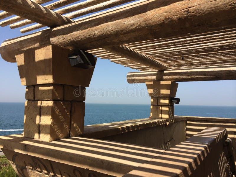 Dubai, United Arab Emirates, Aquaventure, visión, piedra imágenes de archivo libres de regalías
