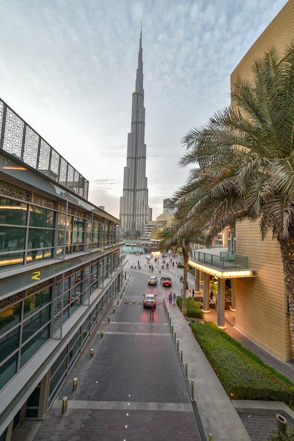 Dubai, United Arab Emirates – November 03, 2018, Burj khlifa view from The Dubai Mall located in Downtown Dubai, beside the Burj stock photos