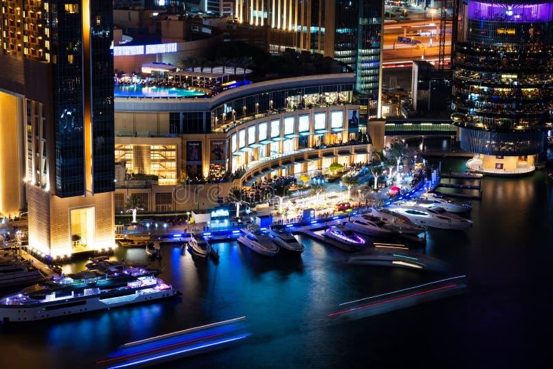 Dubai, United Arab Emirates - November 16, 2018: Dubai Marina ma stock photography