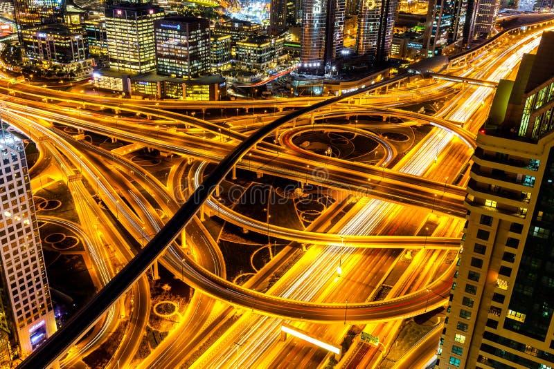 Dubai, United Arab Emirates, Sheikh Zayed road royalty free stock image
