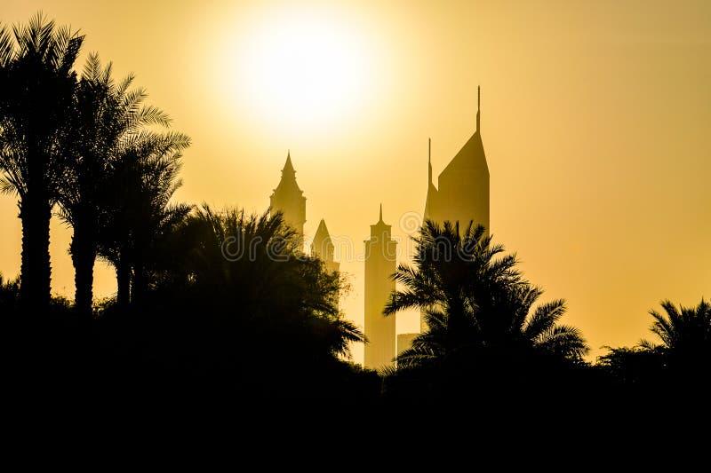 dubai Verano 2016 Construcción en Dubai imágenes de archivo libres de regalías