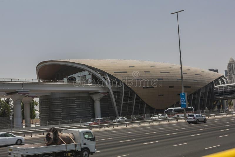 Dubai-Verkehrssystemstation stockbilder