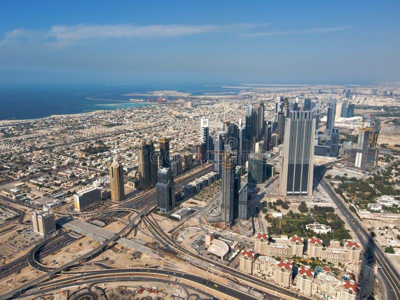 Dubai von oben lizenzfreies stockfoto