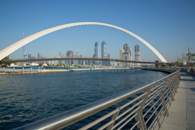 Dubai-Wasser-Kanal Vereinigte Arabische Emirate stockfoto