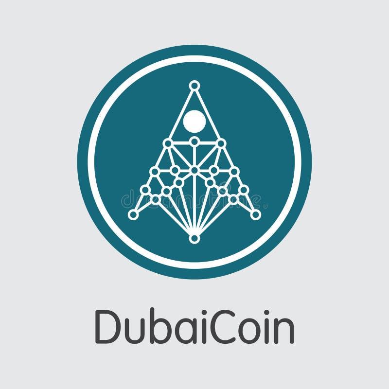 Dubaicoin Digital Currency Vector Web Icon Stock Vector