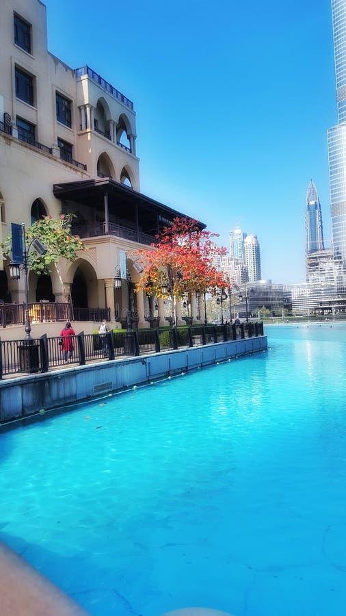 Dubaj śpiewackie fontanny zdjęcie stock