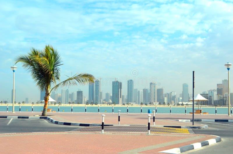 Dubaj krajobraz zdjęcie stock