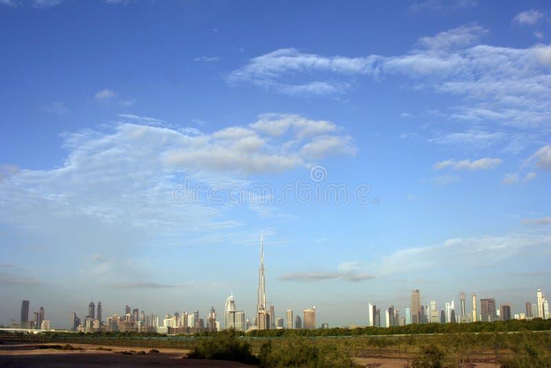 Dubaj linia horyzontu zdjęcia royalty free