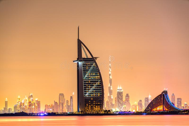 Dubaj linia horyzontu, Dubaj, UAE obraz stock