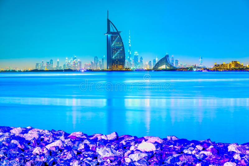 Dubaj linia horyzontu, Dubaj, UAE obraz royalty free