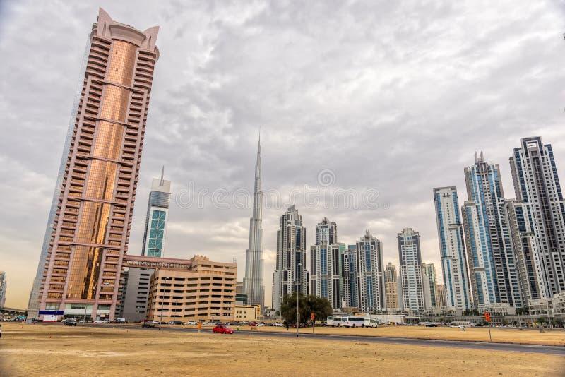 Dubaj linia horyzontu, UAE obrazy stock