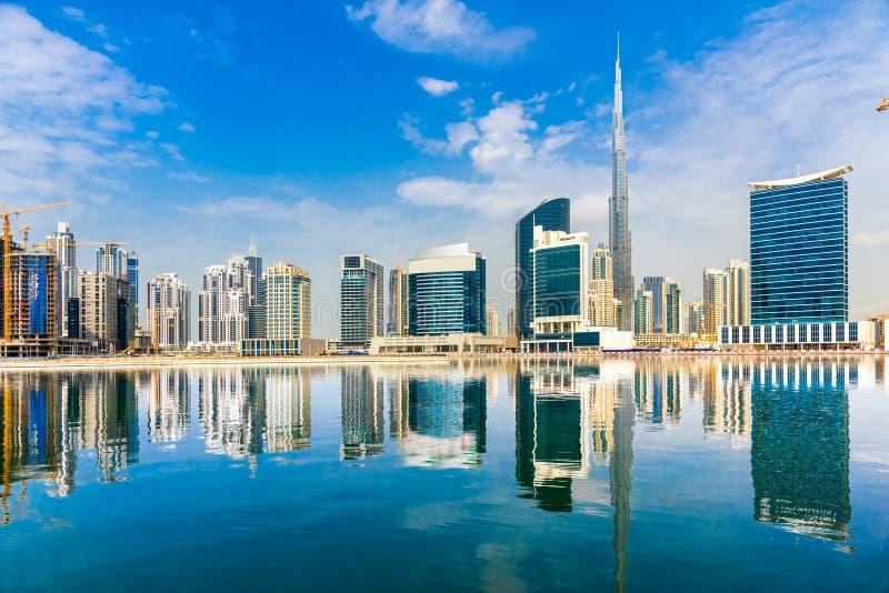 Dubaj linia horyzontu, UAE fotografia royalty free
