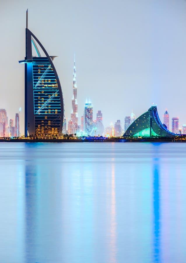 Dubaj linia horyzontu, UAE obraz royalty free