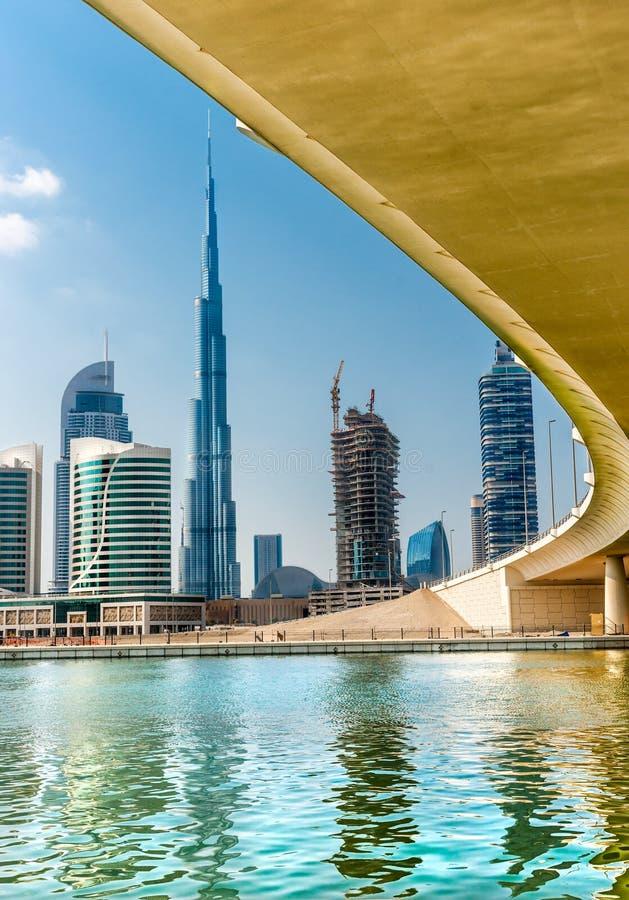 Dubaj linia horyzontu, UAE zdjęcia royalty free