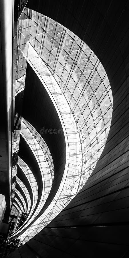Dubaj lotniska wnętrze fotografia stock