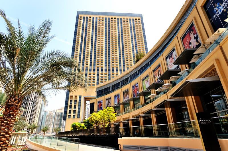 Dubaj Marina centrum handlowe zdjęcie royalty free