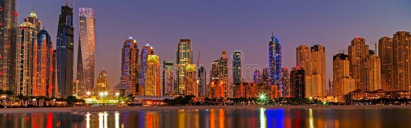 Dubaj marina drapacze chmur Dubaj, UAE obrazy royalty free