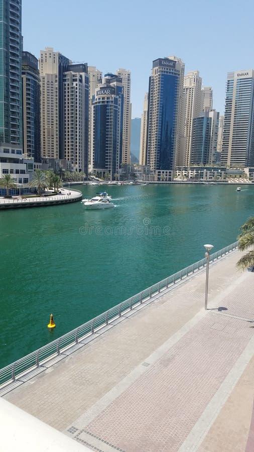 Dubaj marina jeziora 2 Dubaj piękno fotografia royalty free