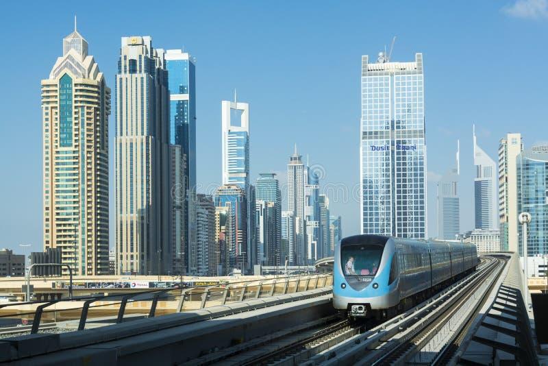 Dubaj metro obraz stock