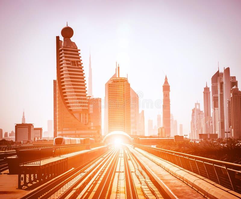 Dubaj metro zdjęcia royalty free