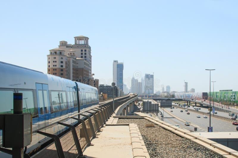 Dubaj metro fotografia royalty free