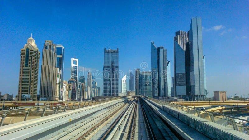Dubaj metro obrazy royalty free