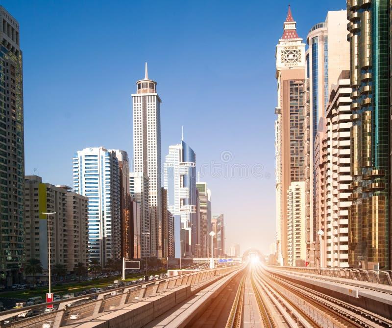Dubaj metro zdjęcia stock