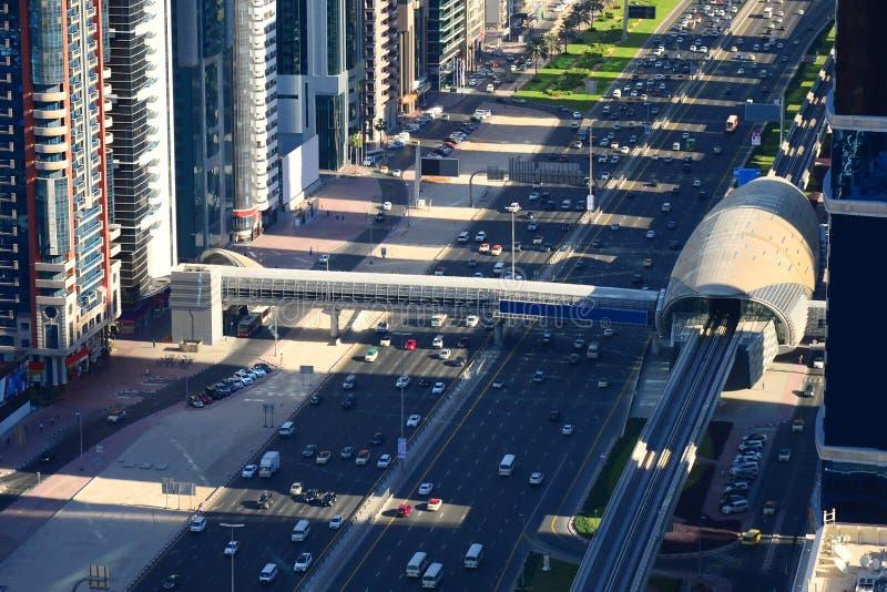 Dubaj ` oka ptasi widok obrazy stock