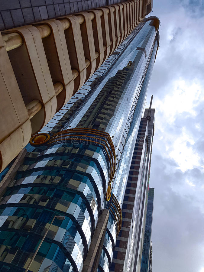 DUBAJ OKOŁO Luty 2017 Jeden - Zjednoczone Emiraty Arabskie - zdjęcie stock