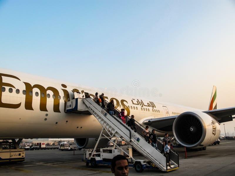 Dubaj pasażera lotnisko obraz stock