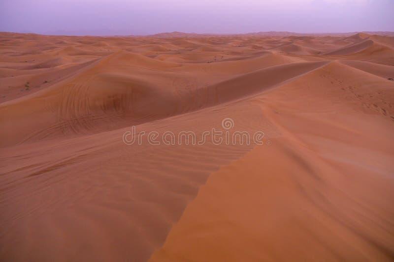 Dubaj pustyni Al Madam obraz royalty free