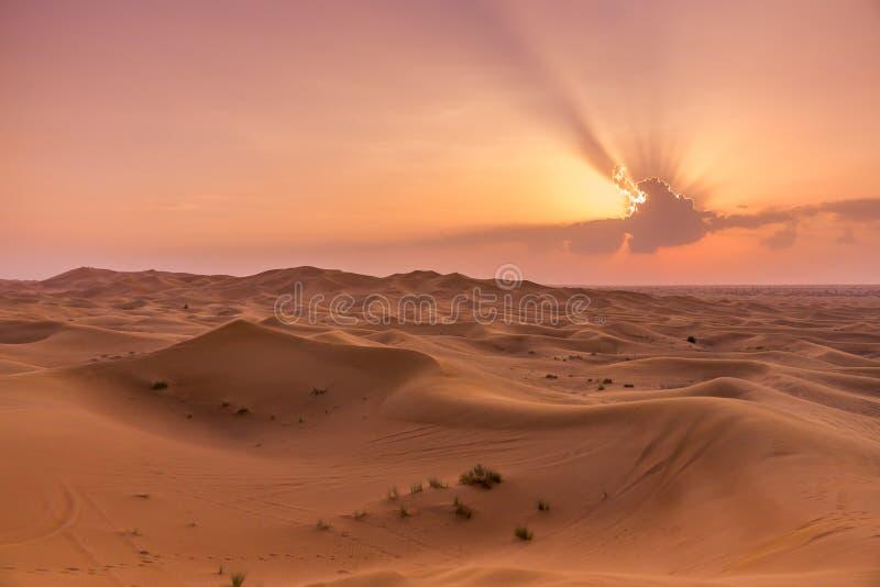 Dubaj pustyni Al Madam zdjęcie stock