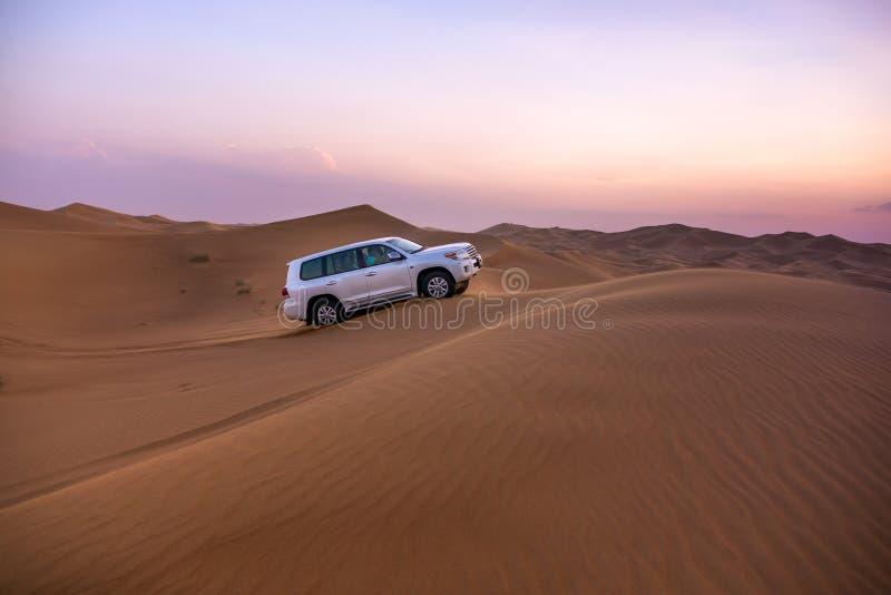 Dubaj pustyni safari obrazy royalty free