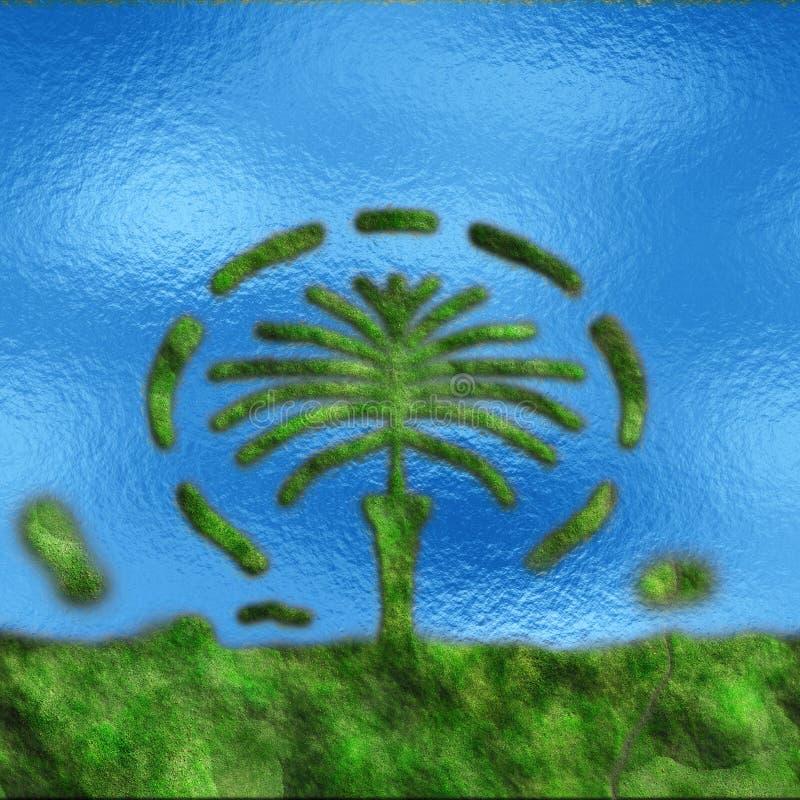 Dubaj sztuczna palmowa wyspa fotografia royalty free