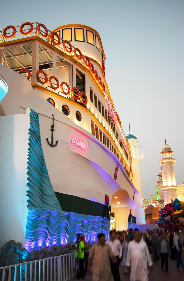 Dubaj, UAE - Grudzień, 2017: Główne wejście pawilon Turcja zdjęcie royalty free