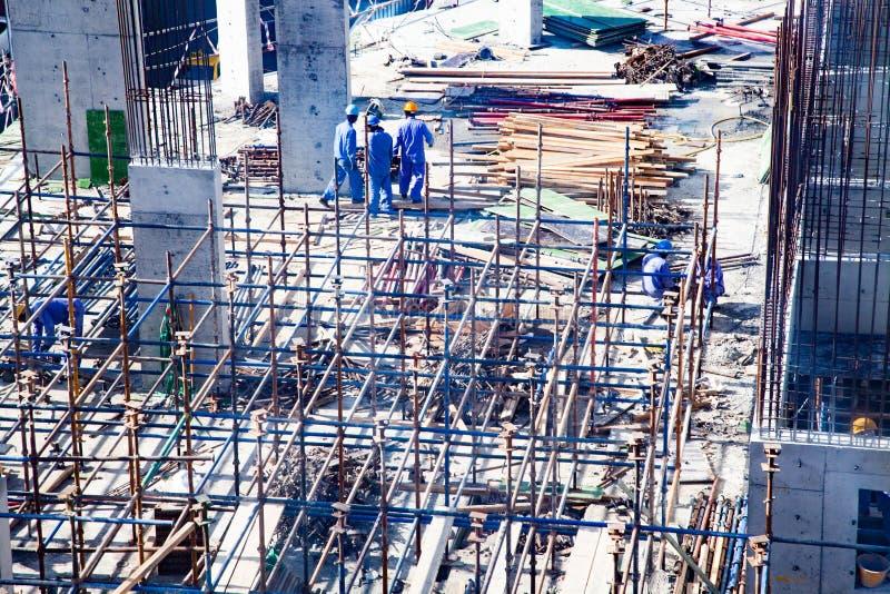 DUBAJ, UAE - LUTY, 2018: Budowy aktywność w Dubaj zdjęcie stock
